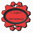 motorbike.PNG Download STL file Motorbike crutch support • 3D print template, Florisam