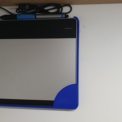 Download 3D printing designs Wacom Intuos Tablet Wall Holder, junkie_ball