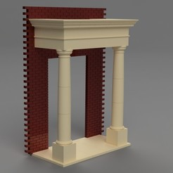 STL file Scale Model Portico - Architecture, junkie_ball