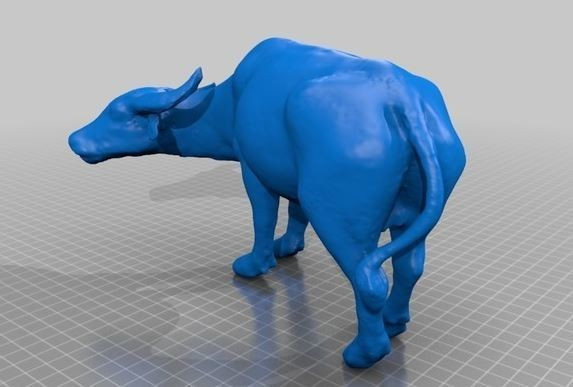 buf.JPG Download free STL file Thai Water Buffalo • 3D printing template, bokem44