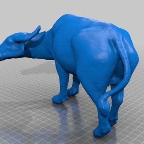 Download free 3D print files Thai Water Buffalo, bokem44