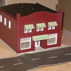 Download free STL file HO Scale Main Street Five • 3D printer model, kabrumble
