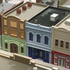 IMG_6704.JPG Download free STL file HO Scale Main Street  Ten, Eleven, and Twelve • 3D printable model, kabrumble