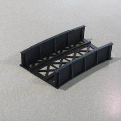 Download free 3D printer designs HO Scale Bridge 20° at 44CM, kabrumble