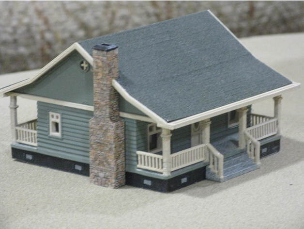 232d3e736e7591a39318bc23a6987ce7_preview_featured.jpg Download free STL file HO Scale Cottage • Template to 3D print, kabrumble