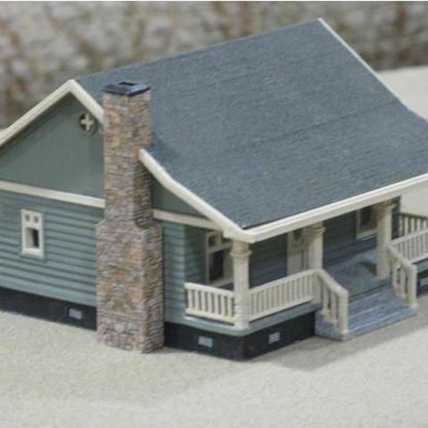 Free 3D print files HO Scale Cottage, kabrumble