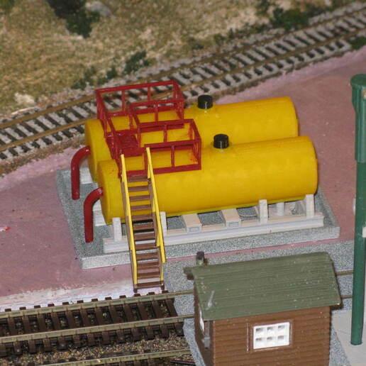 IMG_6781.JPG Download free STL file HO Scale Diesel Refueling Station • 3D printing template, kabrumble