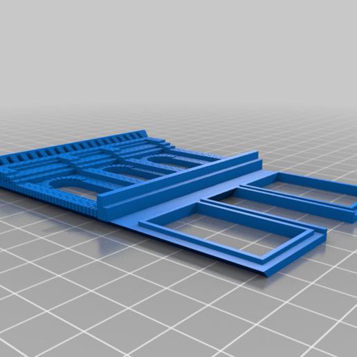 Wall_-_Front.png Télécharger fichier STL gratuit Échelle HO Main Street Two • Design imprimable en 3D, kabrumble