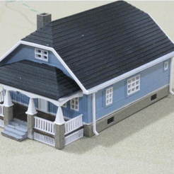 Free 3d print files HO Scale Bungalow, kabrumble