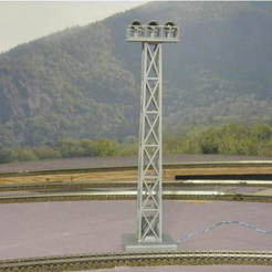 727ff12624b8fac30beb126d086d8e04_preview_featured.JPG Download free STL file HO Scale 68' Yard Light Tower • 3D printer model, kabrumble