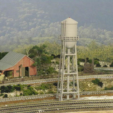 Download free STL HO Scale Water Tower, kabrumble