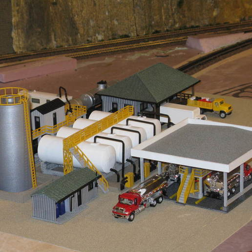 Download free 3D printer model HO Scale Fuel Distribution Facility, kabrumble