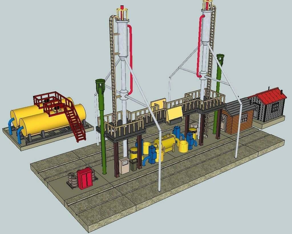 Diesel_Refueling_Station.jpg Download free STL file HO Scale Diesel Refueling Station • 3D printing template, kabrumble