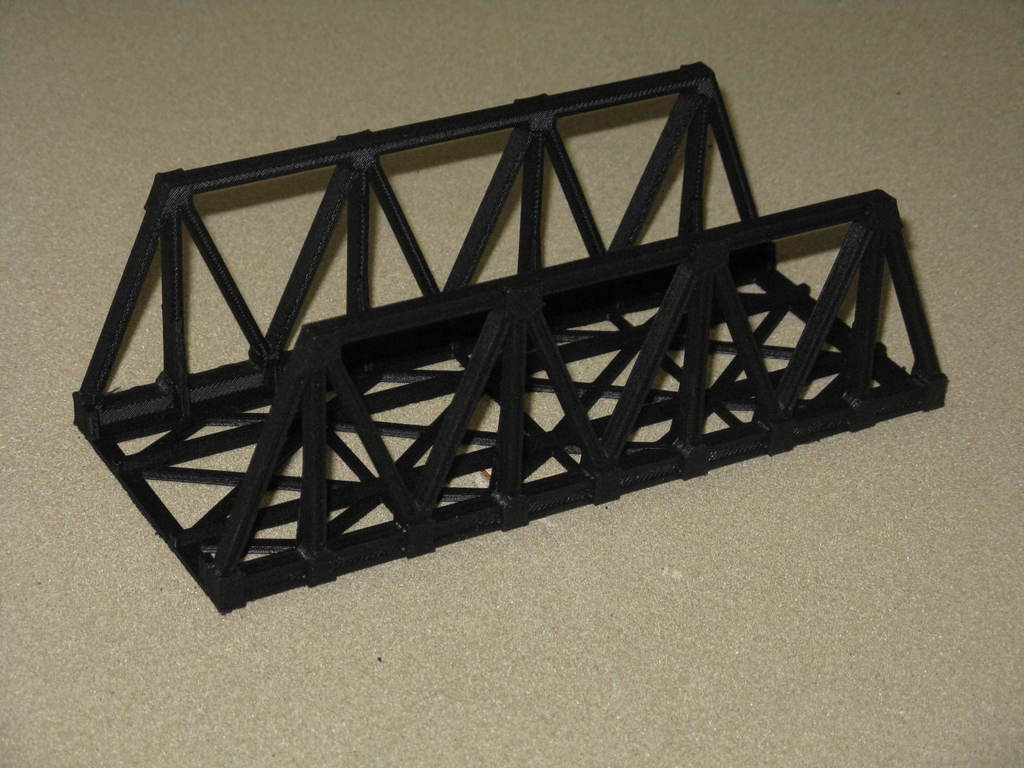 15f094eb40e4b595afbfec181a607e07_display_large.JPG Download free STL file HO Scale Warren Truss Bridge 7.5 Inches • Model to 3D print, kabrumble
