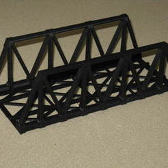 Download free 3D printing files HO Scale Warren Truss Bridge 7.5 Inches, kabrumble