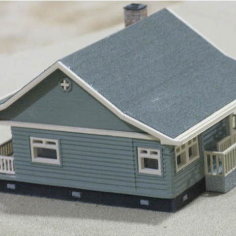 0200eeaef0c4fcbae2507083a7d19e42_preview_featured.jpg Download free STL file HO Scale Cottage • Template to 3D print, kabrumble