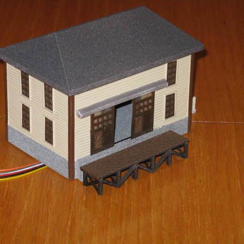 Free 3D printer files HO Scale Trackside Warehouse, kabrumble