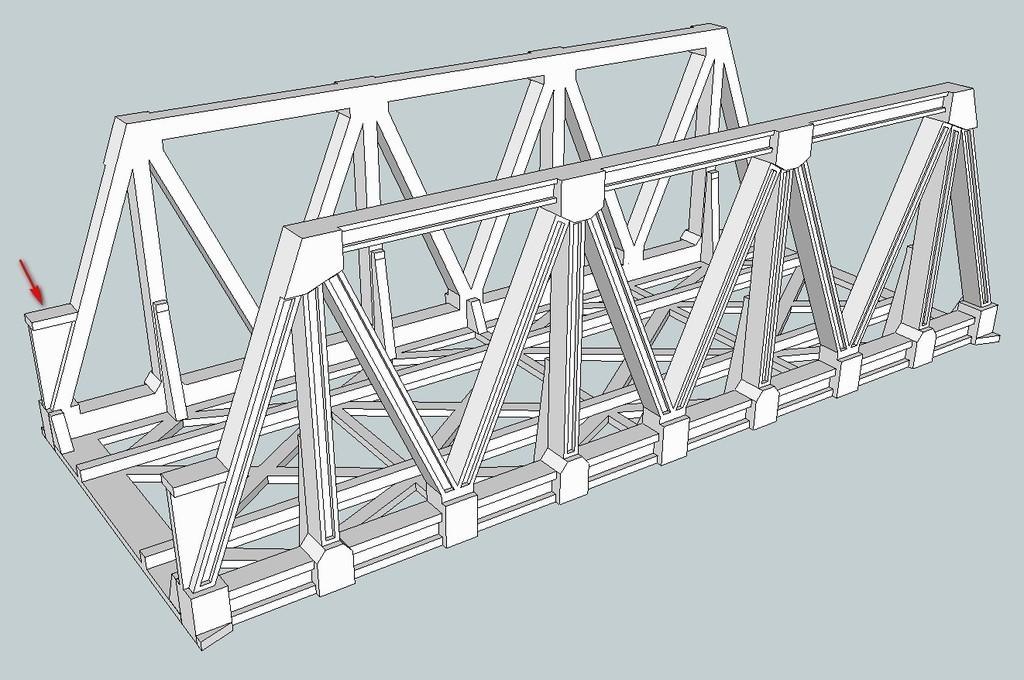 952e0ab659e369ce57a7e8ad01b8870e_display_large.jpg Download free STL file HO Scale Warren Truss Bridge 7.5 Inches • Model to 3D print, kabrumble