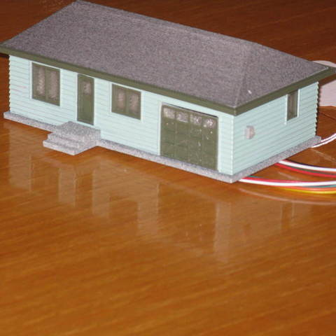 Free 3d Printer Designs Ho Scale House With Garage Door