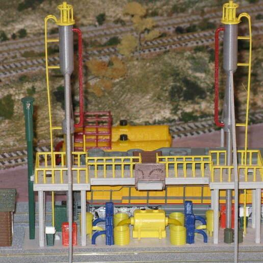 IMG_6780.JPG Download free STL file HO Scale Diesel Refueling Station • 3D printing template, kabrumble