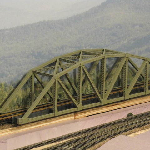 Download free 3D printing files HO Scale126 ft Steel Arched Truss Bridge, kabrumble