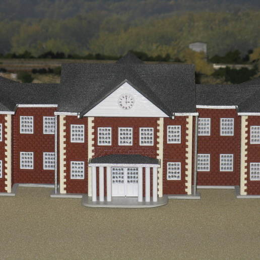 Download free STL files HO Scale School, kabrumble