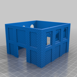 Main_Building_Walls.png Download free STL file HO Scale Coal Pit Head • 3D printer model, kabrumble