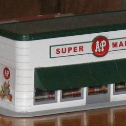Free 3D printer designs HO Scale Grocery Store, kabrumble