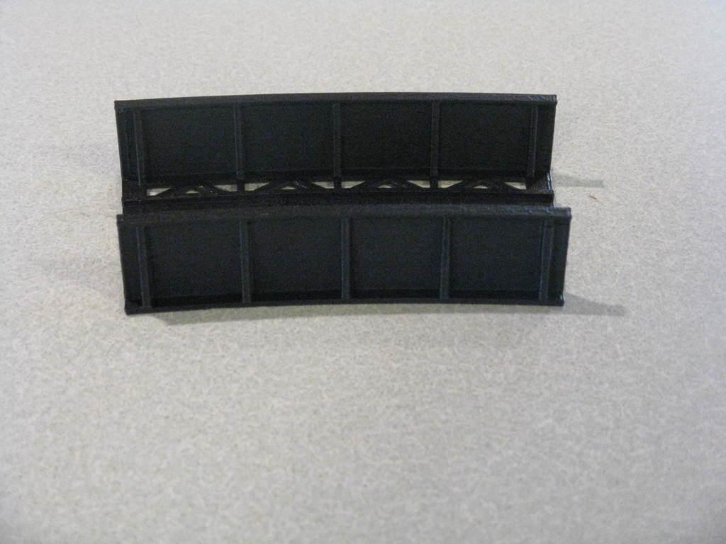 "48ace466002346e906b8ded33b539b84_display_large.JPG Download free STL file HO Scale 18"" Radius Curved Bridge • 3D print model, kabrumble"