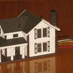 Free 3D printer files HO Scale Two Story Farmhouse, kabrumble