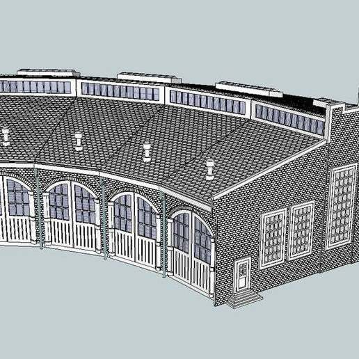 Download free 3D printer designs HO Scale Roundhouse, kabrumble