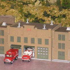 Download free STL HO Scale Fire Station, kabrumble