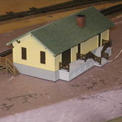 Free 3D printer model HO Scale Small Town Station, kabrumble