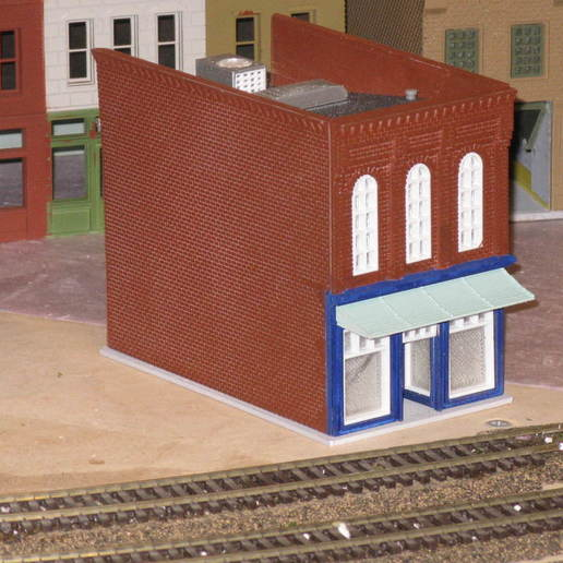 Download free STL HO Scale Main Street Two, kabrumble