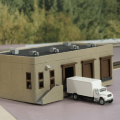 Download free 3D print files HO Scale Distribution Center, kabrumble
