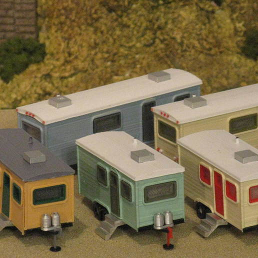 Download free 3D printer templates HO Scale Travel Trailers, kabrumble