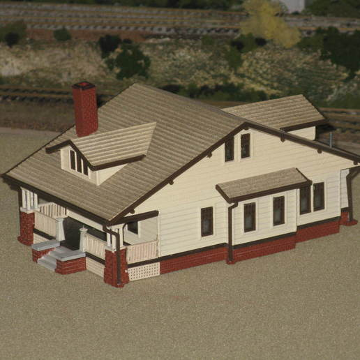 "Download free 3D printing files HO Scale ""The Vallonia"" House, kabrumble"