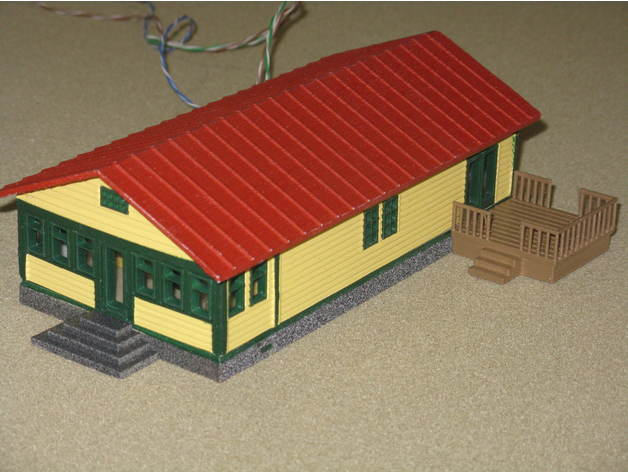 267fce98142c3cdfc83ae353ee4085b3_preview_featured.JPG Download free STL file HO Scale Ranch House and Deck • Design to 3D print, kabrumble