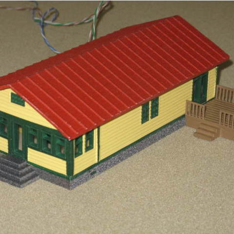 Download free 3D printer templates HO Scale Ranch House and Deck, kabrumble