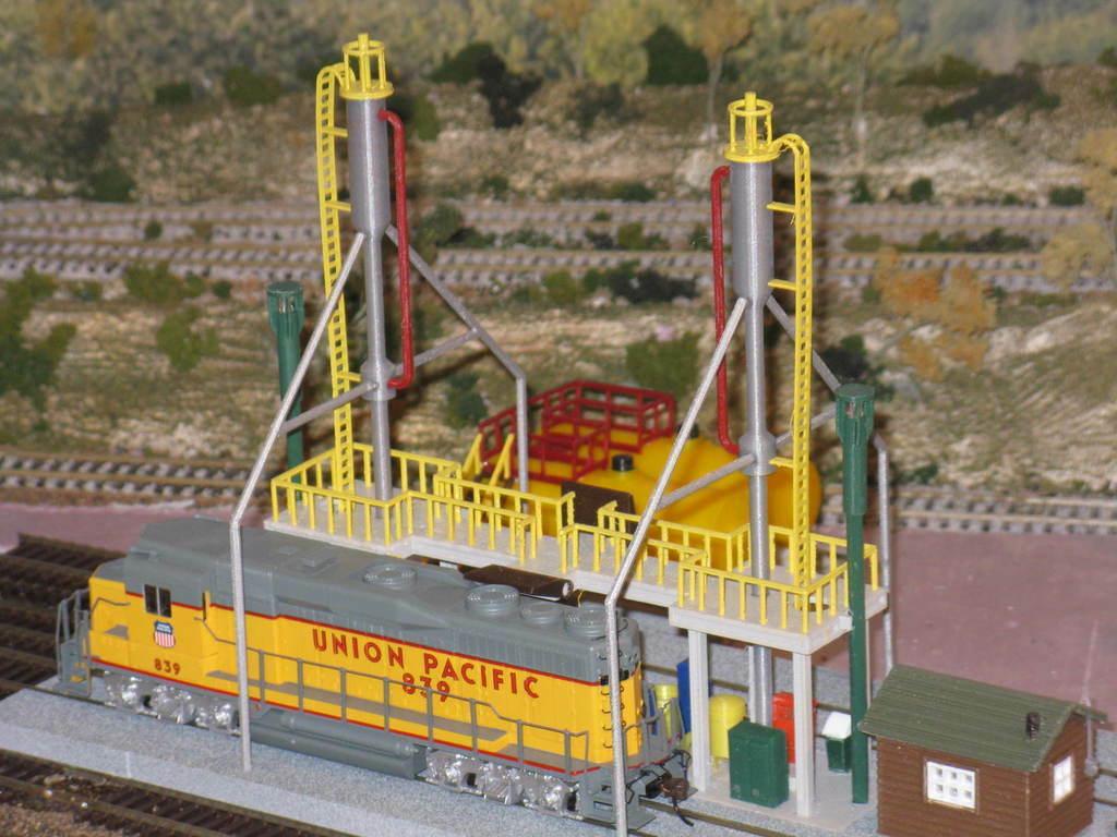IMG_6777.JPG Download free STL file HO Scale Diesel Refueling Station • 3D printing template, kabrumble