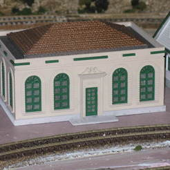 Free STL HO Scale  Post Office, kabrumble