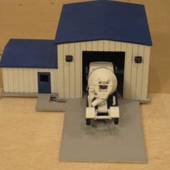 Download free 3D printer files HO Scale Truck Repair Garage, kabrumble