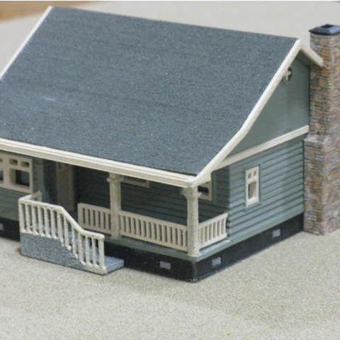 9bb29299e1a73dfb4d52ae6b5f7ea768_preview_featured.jpg Download free STL file HO Scale Cottage • Template to 3D print, kabrumble