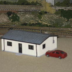 Download free STL HO Scale Yard Office, kabrumble