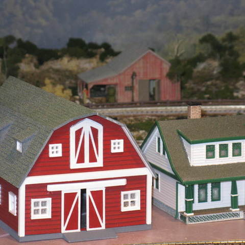 Download free STL files HO Scale Big Red Barn, kabrumble