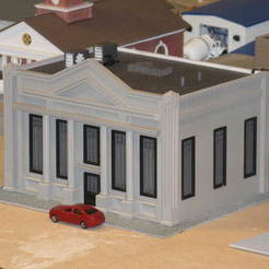Download free STL file HO Scale Bank, kabrumble