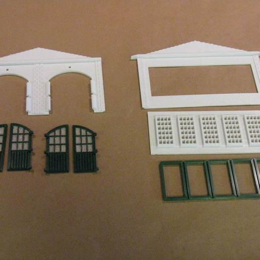 IMG_6574.JPG Télécharger fichier STL gratuit Maison des moteurs à deux étages à l'échelle NEW HO • Plan à imprimer en 3D, kabrumble