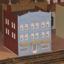 Download free 3D printer designs HO Scale Main Street Three, kabrumble