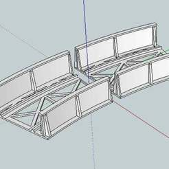 Free 3D printer designs HO Scale Curved Bridge for Marklin Track, kabrumble