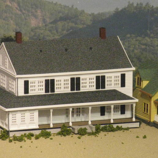 Download free 3D print files HO Scale The Stratford Inn, kabrumble